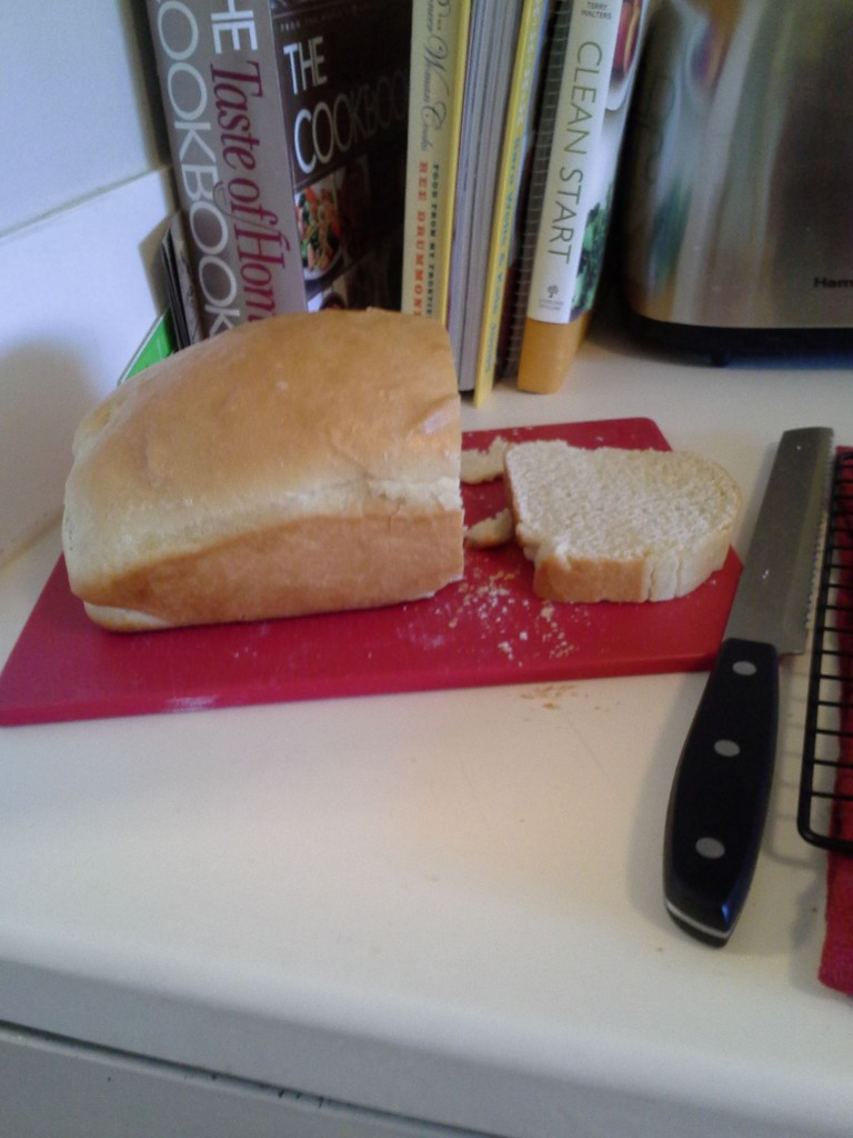 Sariah's first loaf of bread: mmmm