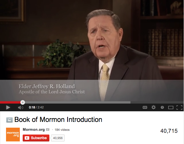 Click here for a short introduction to the Book of Mormon by Elder Holland