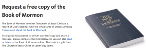 Click here for a free copy of the Book of Mormon