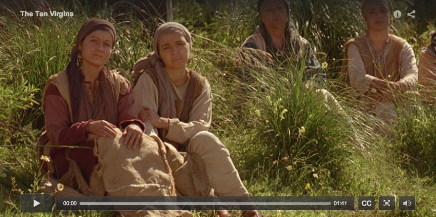 "Click the photo to watch the LDS Bible video ""The Ten Virgins"" Matthew Ch. 25"