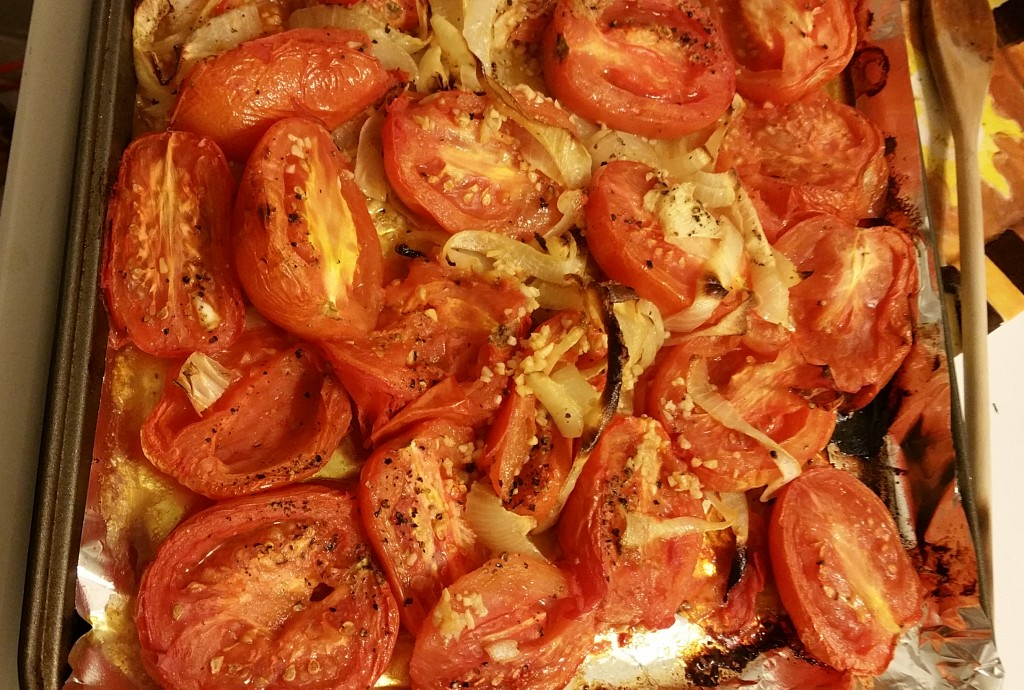 16 roasted roma tomatoes