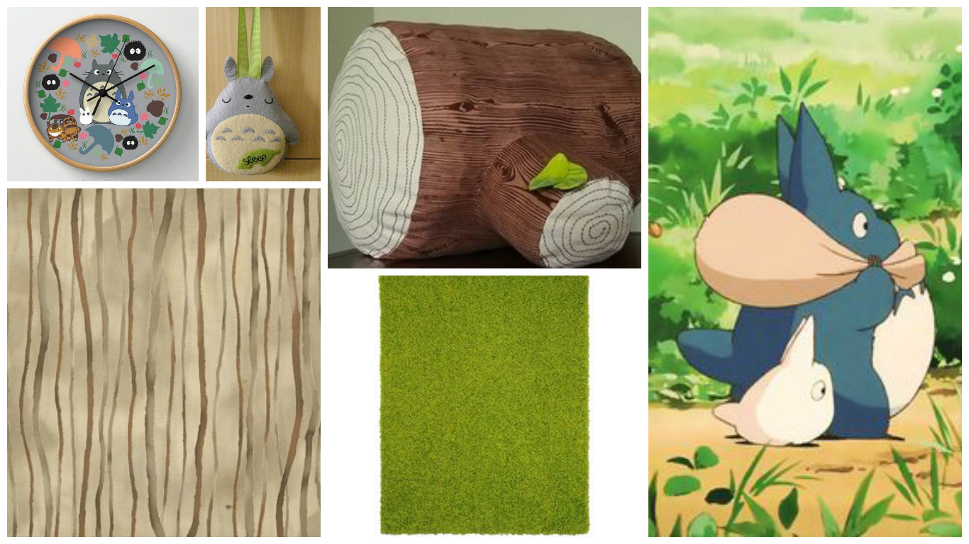 tree stump pillow collage